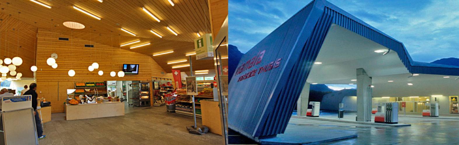 Autobahnraststätte Viamala, Shop und Restaurant
